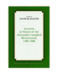 Lectures in Honor of the Alexander Campbell Bicentennial