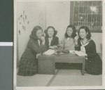 A Study Session in the Girls Dorm, Ibaraki, Japan, ca.1948-1952