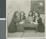 A Study Session in the Girls Dorm, Ibaraki, Japan, ca.1948-1952