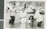 A Preacher Baptizing Filipino Converts, Tagbac, Magpet, Cotabato, Philippines, ca.1950-1969