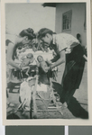 Augusta Brittell Receives Orphans for the Children's Home at the Namwianga Mission, Kalomo, Zambia, ca.1941-1959