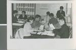 A Group of Korean Christians Working on Bible Correspondence Lessons, Seoul, South Korea, 1967
