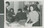 A Korean Christian Sorts Through Bible Correspondence Courses, Seoul, South Korea, 1965