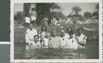 Baptisms in the River, Durango, Durango, Mexico, 1944