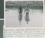 A Student Preacher and New Christian Exit the Water after a Baptism, Nigeria, 1960