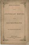 Report of Proceedings of the Anniversary Meeting of the American Christian Missionary Society Held in Cincinnati, October 19, 20, 21, 1859.