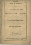 Report of Proceedings of the Thirteenth Anniversary Meeting of the American Christian Missionary Society Held in Cincinnati, October 22, 23, 24, 1861.