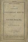 Report of Proceedings of the Sixteenth Anniversary Meeting of the American Christian Missionary Society Held in Cincinnati, October 18, 19, 20, 1864.
