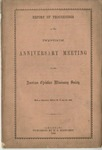 Report of Proceedings of the Twentieth Anniversary Meeting of the American Christian Missionary Society Held at Cincinnati, October 20, 21, and 22, 1868. by American Christian Missionary Society