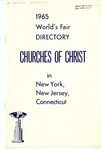 1965 World's Fair Directory: Churches of Christ in New York, New Jersey, Connecticut.