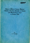 History of Hickory Country, Missouri Christian Churches (Disciples of Christ) with Membership as listed in October 1950