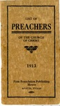 List of Preachers of the Churches of Christ by Firm Foundation Publishing House