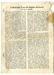 A Methodist Tract On Baptism Reviewed