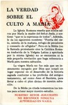 La Verdad Sobre El Culto A Maria by Francisco R. Avila