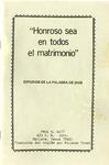 """""""Honroso sea en todos el matrimonio"""" by Paul C. Witt and Ricardo Treat"""