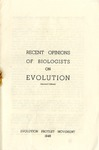 Recent Opinions of Biologists on Evolution: 2nd Edition