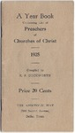 A Year Book Containing List of Preachers of Churches of Christ