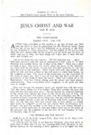 Jesus Christ and War