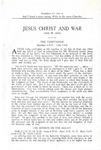 Jesus Christ and War by Jessie W. Gibbs