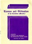 License and Ordination of the Christian Ministry: Suggested Standards, Procedures, and Preparatory Reading Course