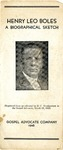 Henry Leo Boles: A Biographical Sketch by B. C. Goodpasture