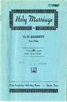 Holy Marriage by D. N. Barnett