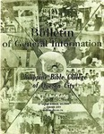 Bulletin of General Information: Philippine Bible College of Quezon City