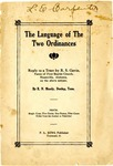 The Language of the Two Ordinances: Reply to a Tract by R. S. Gavin