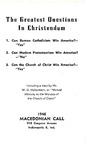 The Greatest Questions In Christendom