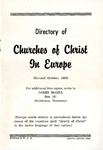 Directory of Churches of Christ in Europe (Revised October, 1963)