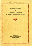 Missionaries of Nebraska Christian Women's Missionary Society by Mary Ellen White