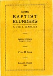 Some Baptist Blunders Third Edition