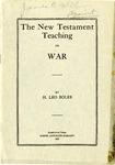 The New Testament Teaching On War