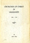 Churches Of Christ In Mississippi 1836-1954