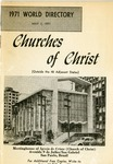 Churches of Christ 1971 World Directory by James R. McGill