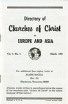 Directory of Churches of Christ in Europe and Asia by James McGill