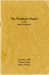 The President's Report To The Board Directors, November, 1949, Harding College, Searcy, Arkansas.
