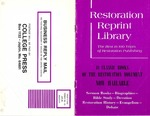Restoration Reprint Library Catalog by College Press Publishing Company