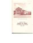 History of the Church of Christ in Wichita Falls, Texas, 1908-1973