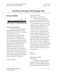 DANGO (Doings and Goings On) - Vol. 22 | Issue 1 by Matthew Kimball, Haley Stien, Cecily Towell, Rusty Towell, Aric Tate, Caleb Hicks, Zhaojia Xi, Joshua Daniel Martinez, Shon Watson, Paul Carstens, Mike Daugherity, and Donald Isenhower