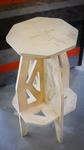 "28"" Plywood Stool by ACU Maker Lab, Nil Santana, and Lyndell Lee"