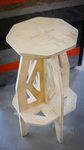 "28"" Plywood Stool Angled View by ACU Maker Lab"