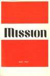 Mission Journal cover July 1967 by Mission