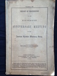 1863 American Christian Missionary Society Proceedings by American Christian Missionary Society