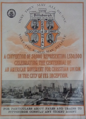 Poster Advertising the 1909 Disciples of Christ Centennial Convention