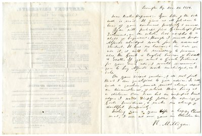 Letter from Robert Milligan to Josephus Hopwood