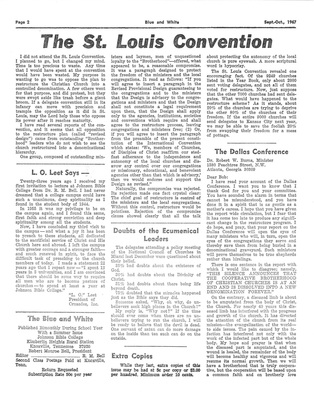 The St. Louis Convention